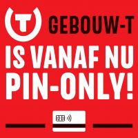 Gebouw-T neemt afscheid van muntjes en stapt over op PIN only